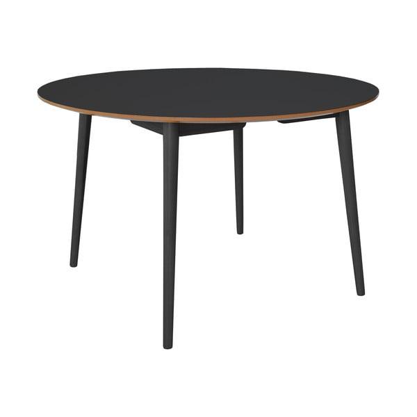 Czarny stół do jadalni z dębowymi nogami RGE Trim