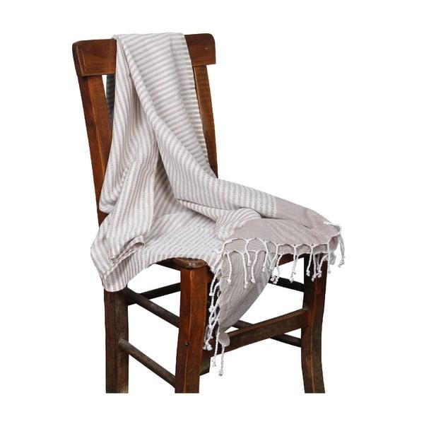 Ręcznik hammam Hermes Beige, 90x190 cm