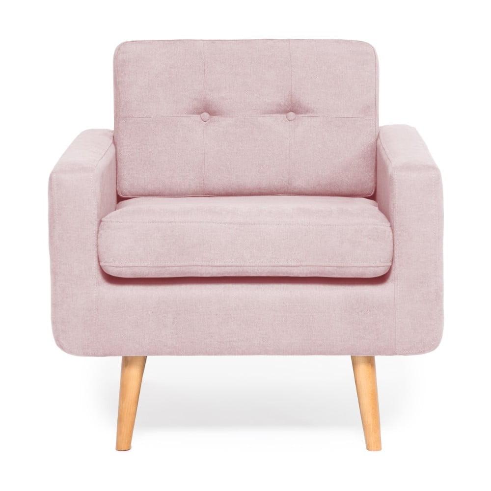 Różowy fotel Vivonita Ina