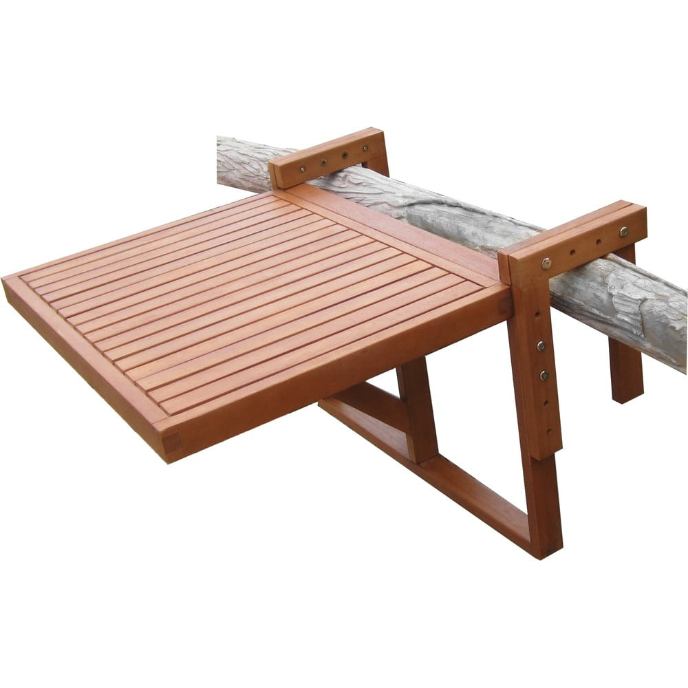 Zestaw 2 krzeseł i wiszącego stolika z drewna eukaliptusowego ADDU Balcony Berkeley