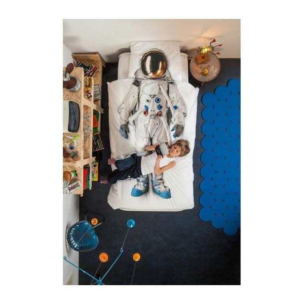 Bawełniana pościel jednoosobowa Snurk Astronaut 140x200 cm