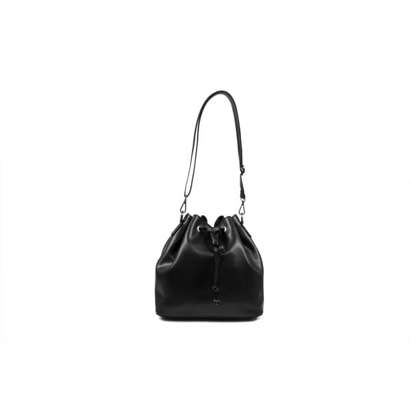 Skórzana torebka Farah, czarna