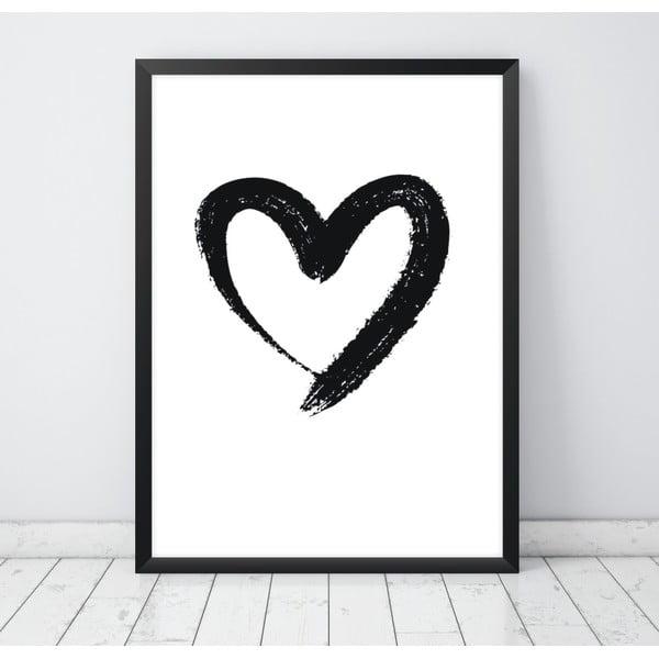 Plakat Nord & Co Heart, 21x29 cm