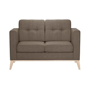 Brązowa sofa dwuosobowa Stella Cadente Recife