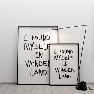 Plakat I found myself in wonderland, 50x70 cm