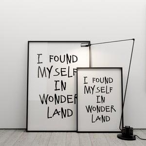 Plakat I found myself in wonderland, 50x70 cm
