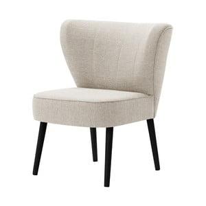 Kremowy fotel z czarnymi nogami My Pop Design Adami