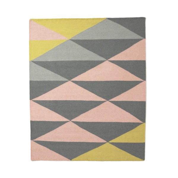 Wełniany dywan triangle 120x150 cm, żółty