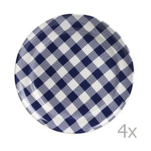Zestaw 4 talerzy Anne 32 cm, niebieski