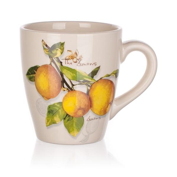 Kubek ceramiczny Banquet Lemon, 500ml