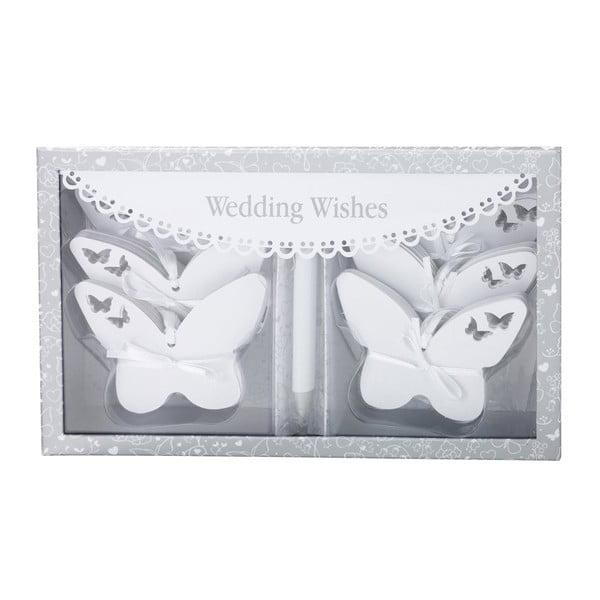 Komplet 54 karteczek na życzenia ślubne Butterflies