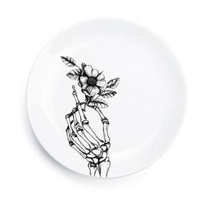 Porcelanowy talerz Skeleton, 25 cm