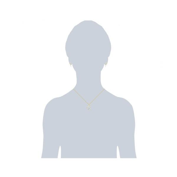 Zestaw: kolczyki i naszyjnik Prong White