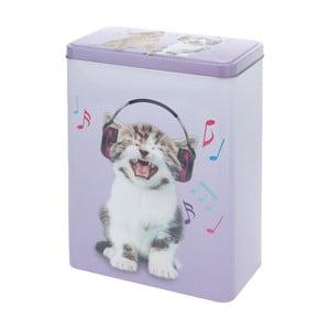 Pojemnik metalowy Music Kitty, 18x25 cm