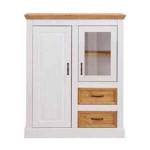 Biała szafka 2-drzwiowa z litej sosny Støraa Suzie