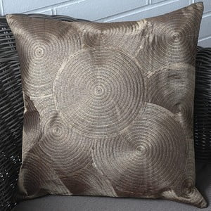 Poszewka na poduszkę Circles 45x45 cm, złocisty