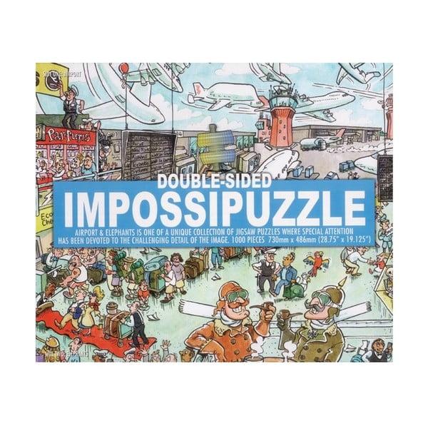 Dwustronne puzzle Lotnisko i słonie