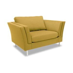 Żółty fotel VIVONITA Connor