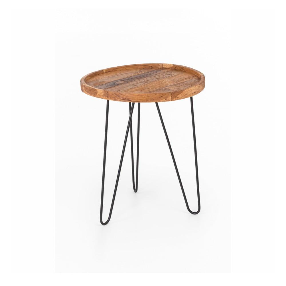 Stolik Index z żelaznymi nogami Living Patricia, ⌀ 50 cm
