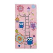 Różowy dywan Think Rugs  Hongkong, 70x140 cm