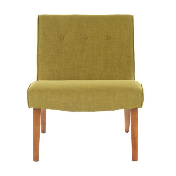 Fotel Mandel, limetkowy