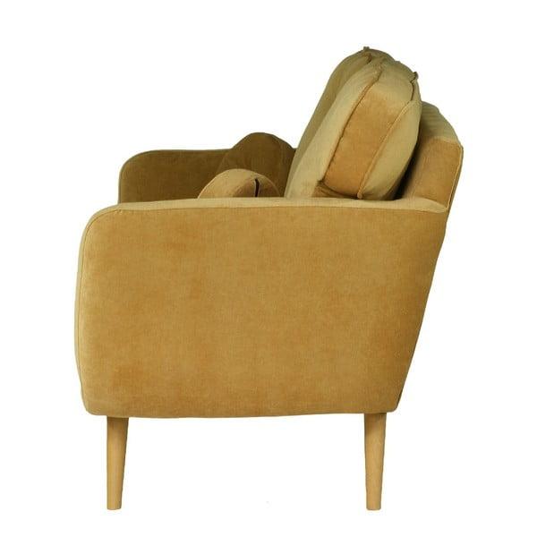 Jasnobrązowa   sofa trzyosobowa Wintech Alva Ibiza