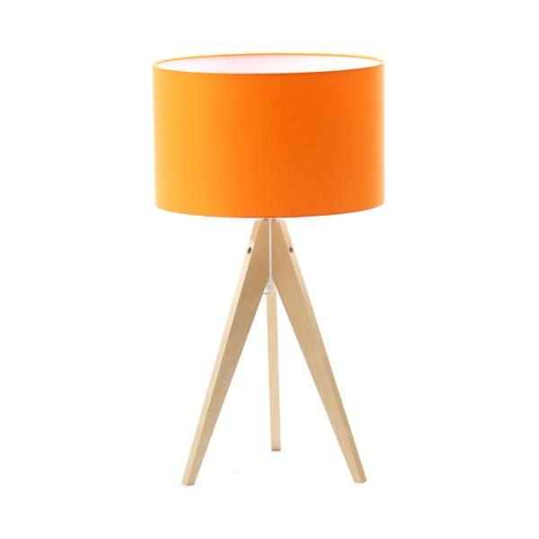 Pomarańczowa lampa stołowa 4room Artist, brzoza, Ø 33 cm