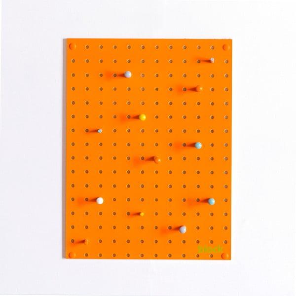 Wielofunkcyjna tablica Pegboard 30x40 cm, pomarańczowa