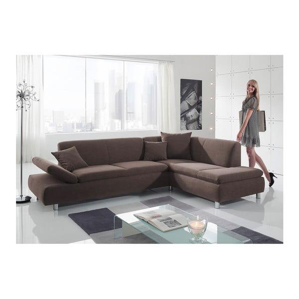 Brązowa sofa narożna Max Winzer Prag, prawostronna