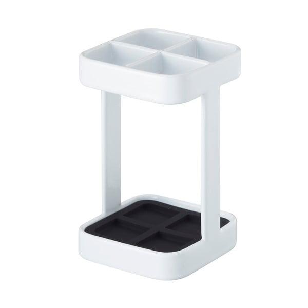 Biały stojak na szczoteczki Yamazaki Tower Slim