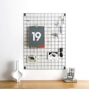 Szara tablica wielofunkcyjna Wire Mesh, 61x81cm