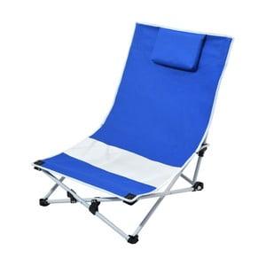 Niebiesko-biały składany leżak turystyczny Cattara Larisa