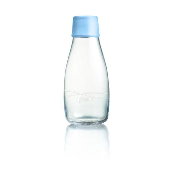 Pastelowo niebieska butelka ze szkła ReTap z dożywotnią gwarancją, 300 ml