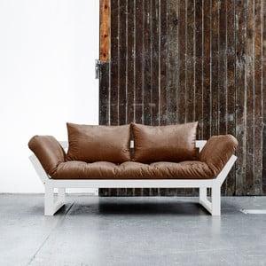 Sofa Karup Vintage Edge White/Choco