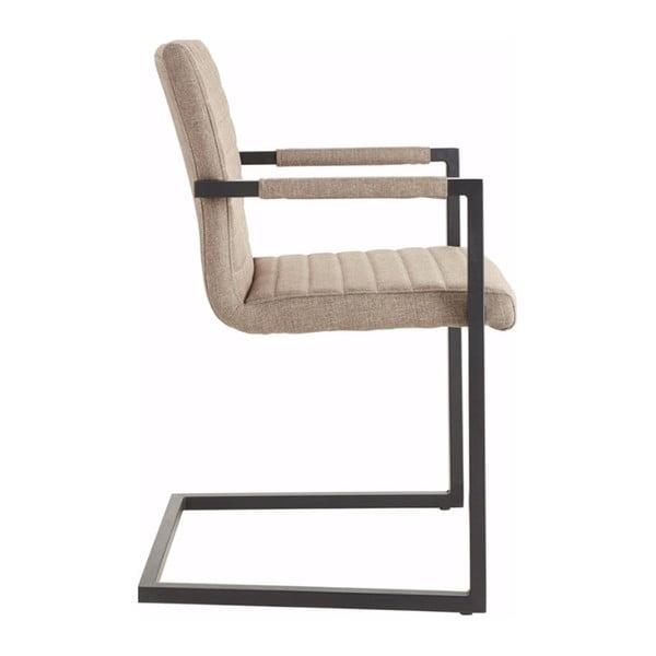 Brązowe krzesło z podłokietnikami Støraa Stacey