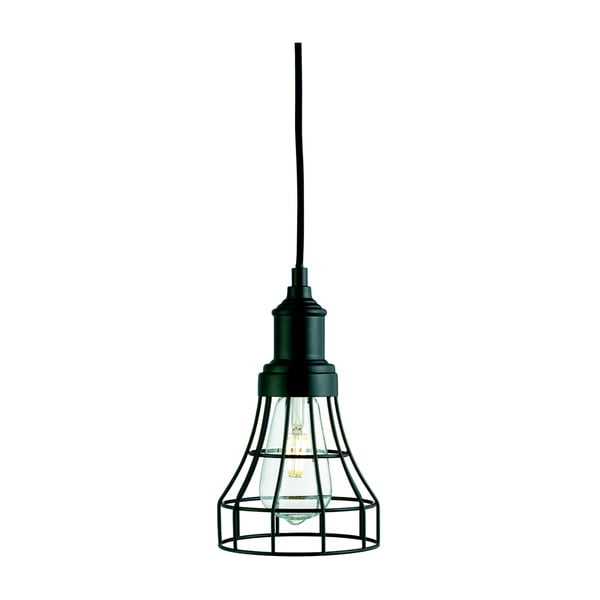 Czarna lampa wisząca Searchlight Tapered Cage