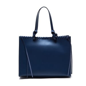 Skórzana torebka Felicia, niebieska