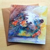 Kartka okolicznościowa Wraptious Rainbow Otter