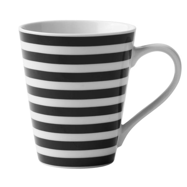 Porcelanowy kubek Black Striped