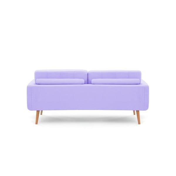 Pastelowo fioletowa sofa trzyosobowa VIVONITA Ina