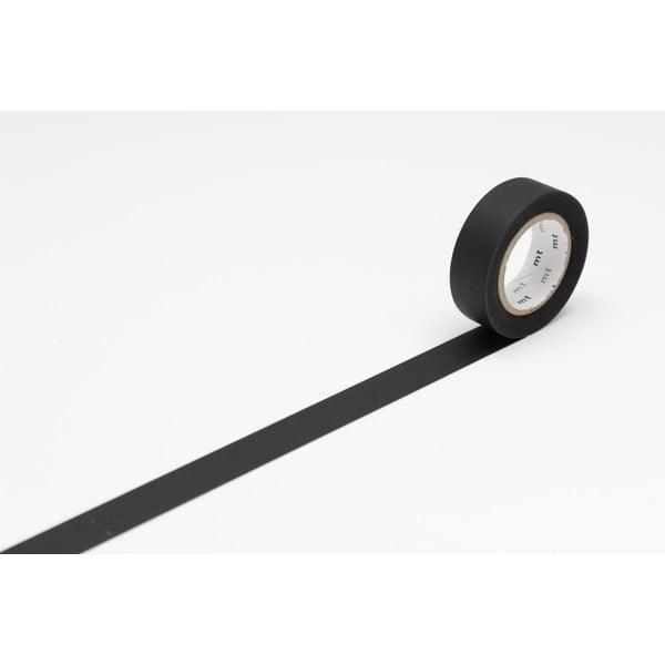 Czarna taśma dekoracyjna washi MT Masking Tape Uni