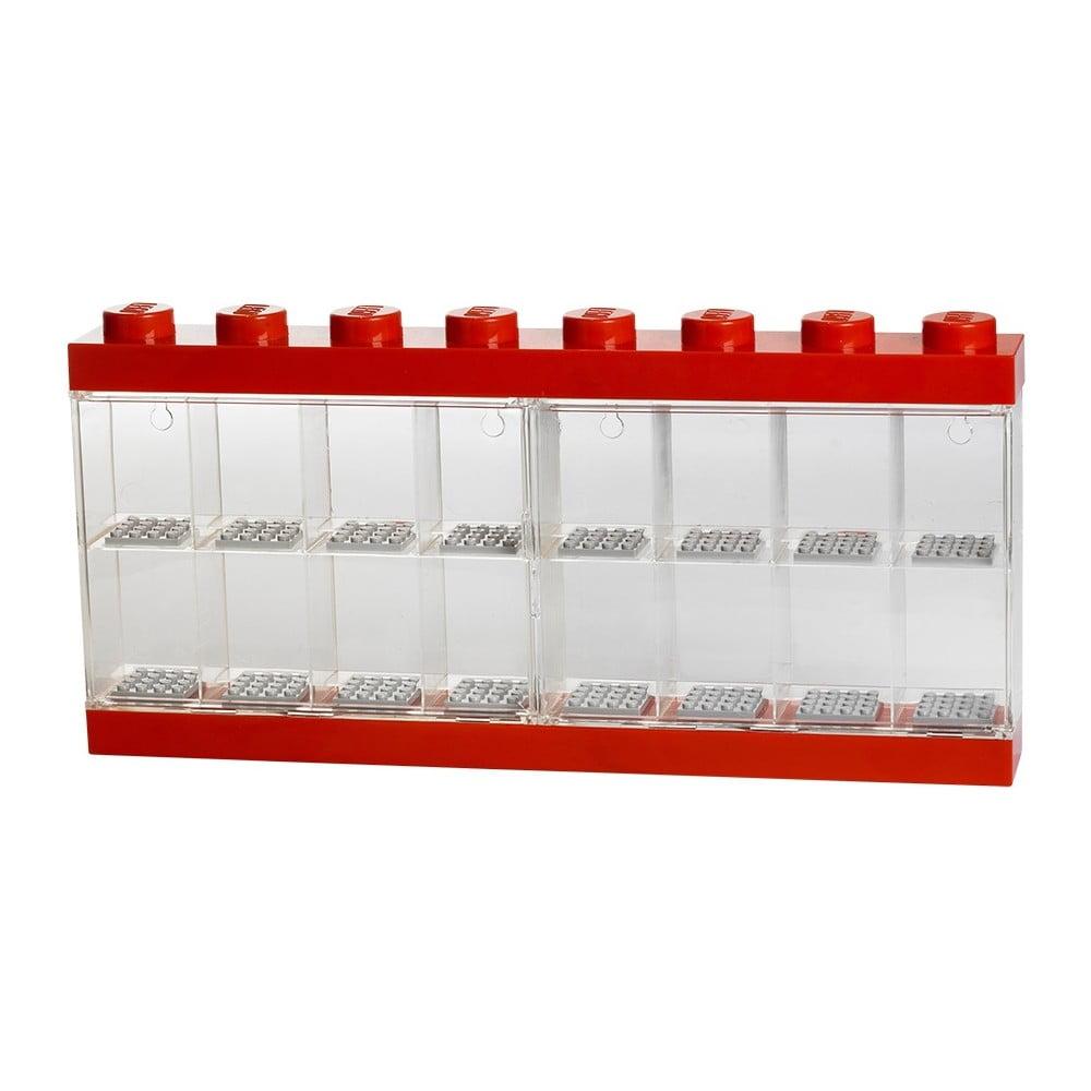 Czerwona witryna kolekcjonerska na 16 figurek LEGO®