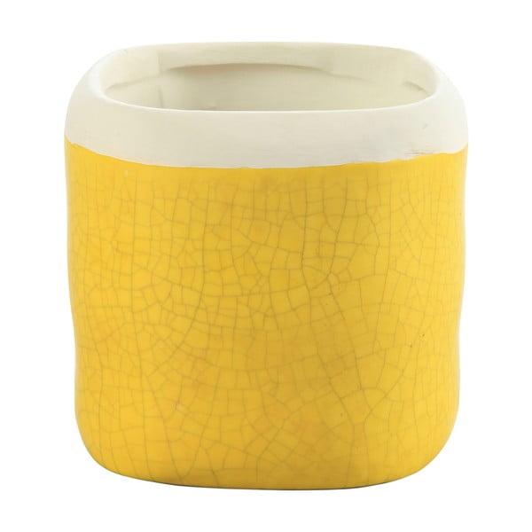 Doniczka Earth 17 cm, żółta