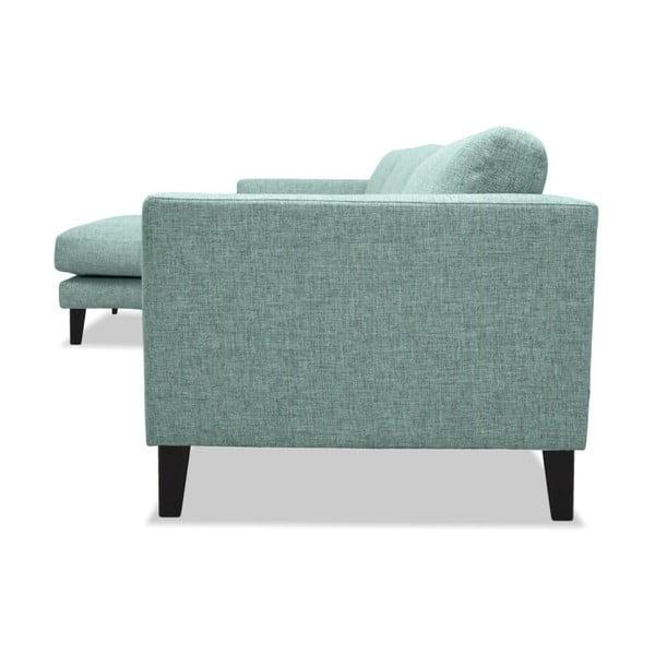 Jasnoturkusowa sofa lewostronna Vivonita Monroe