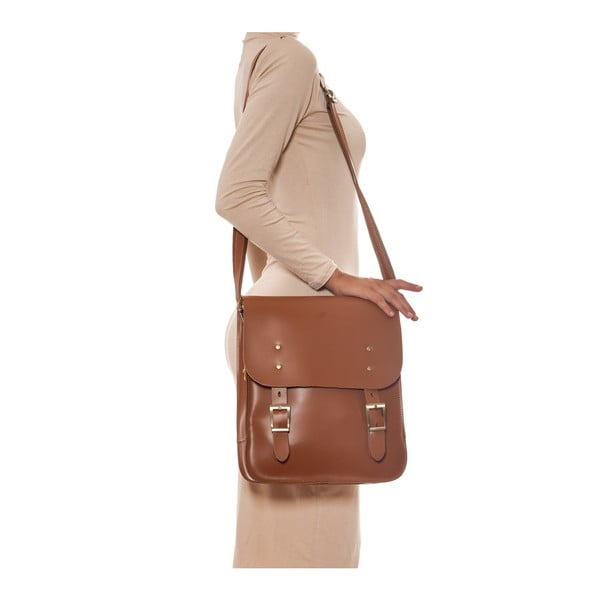 Skórzana torebka Renata Corsi 399 Cognac