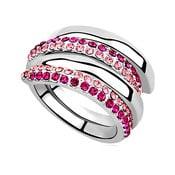Pierścionek z kryształami Swarovski Elements Crystals Aline