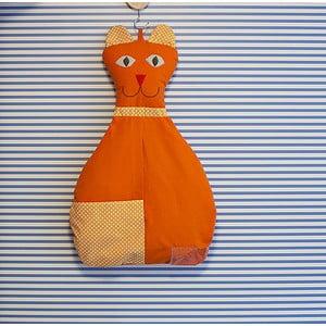 Kieszeń bawełniana Kotka, pomarańczowa