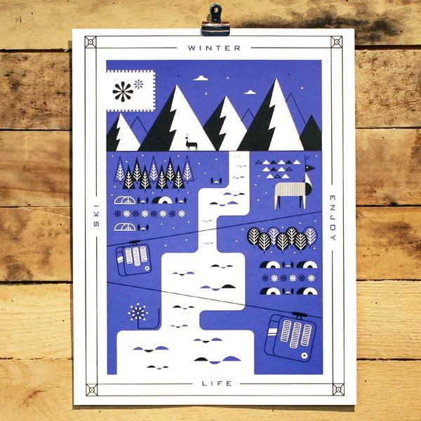 Plakat Winter, 41x30 cm