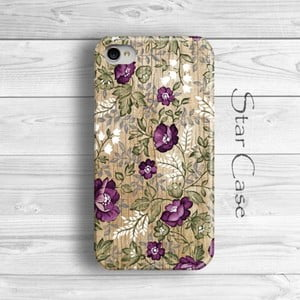 Etui na iPhone 4/4S Wood Floral Purple