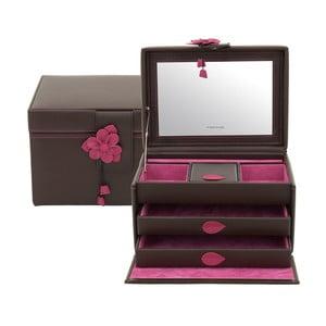Ciemnobrązowa szkatułka  Amira, 30x17 cm